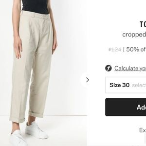 TOMMY JEANS cropped straight-leg trousers